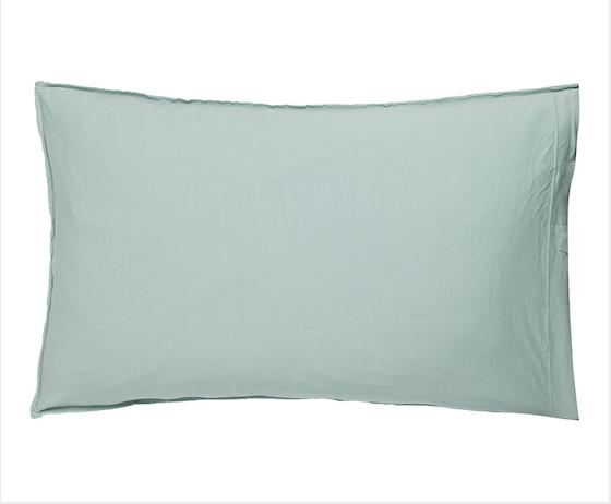 Funda de cojín punto de camiseta y punto piqué 40x65 color alga.jpg